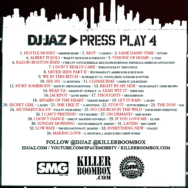 [Mixtape Download]  DJ Jaz Presents: Press Play 4