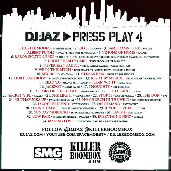 [Mixtape Download]  DJ Jaz Presents: Press Play 4