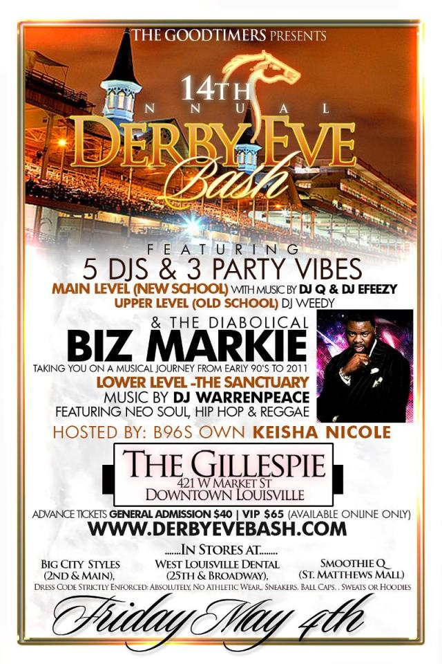 14th Annual Derby Eve Bash - Friday May 4th,2012
