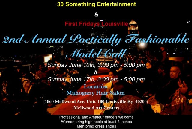 2ND Annual Poetically Fashionable Model Call
