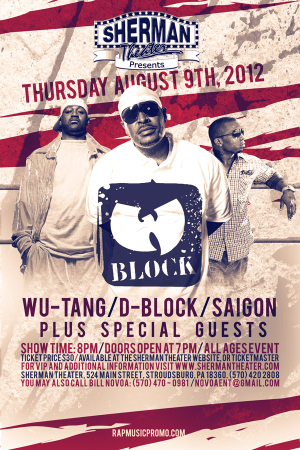 Wu Block Performing Live In Stroudsberg, PA [August 9,2012]