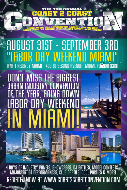 Coast 2 Coast Convention 2012 Labor Day Weekend Miami Www Sub Z Info