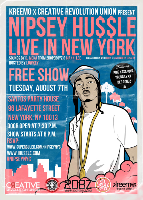 Nipsey Hussle Performing Live In NY [8-7-12]