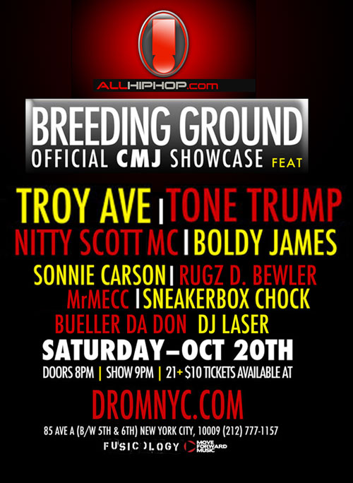 AllHipHop's BREEDING GROUND SHOWCASE Oct 20,2012