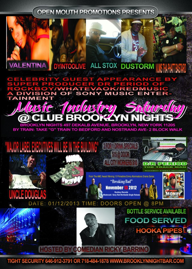Brooklyn Nights Show on January 12, 2013