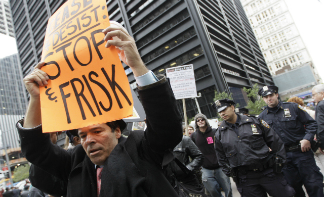 nypd stop frisk protest