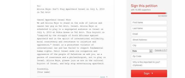 Alicia Keys Petition1