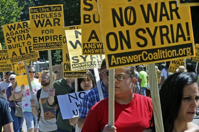 Antiwar in Syria Protests