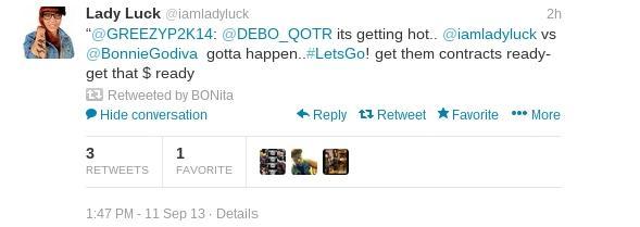 Lady Luck Tweet 1