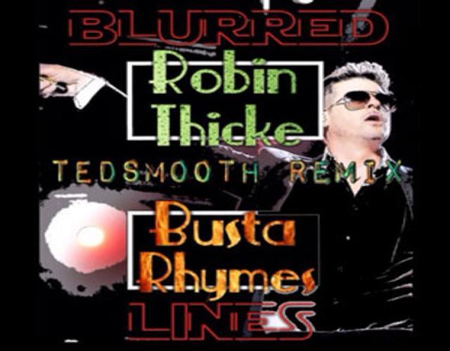 Blurred Lines Remix art