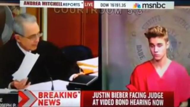 Justin Bieber courtroom