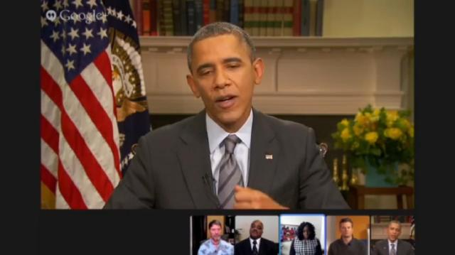 President on Google Hangout