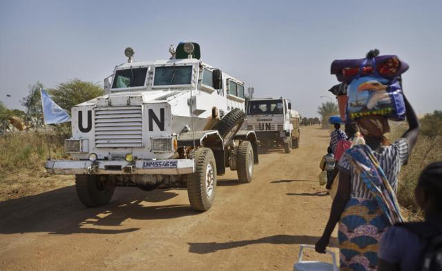 UN Vehicles South Sudan